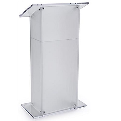 Frosted-Perspex-lectern-hire-London