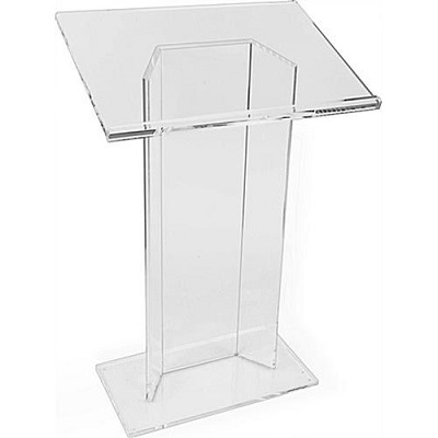 Perspex lectern-hire-London
