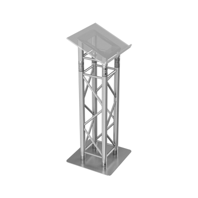 Truss Lectern – Aluminium Straight HIRE LONDON