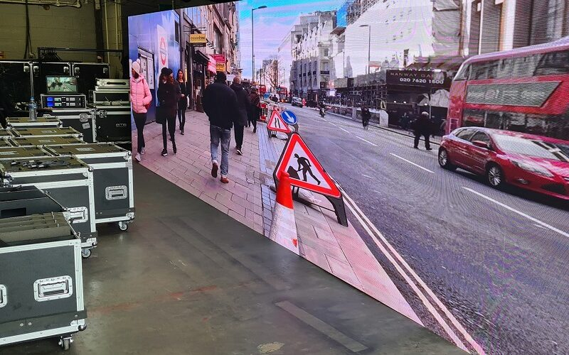 led video wall testing before event
